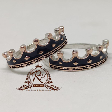 92 5 silver oxdize couple ring Rh-Cr957