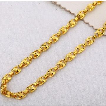 22 carat gold men hallmark choco chain RH-GC727