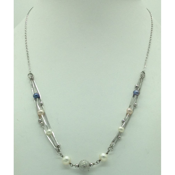 Freshwater MulticolourPearlsSilver ChainJNC0094