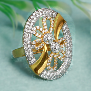 22Kt Gold Designer Ring For Bridal PJ-R016