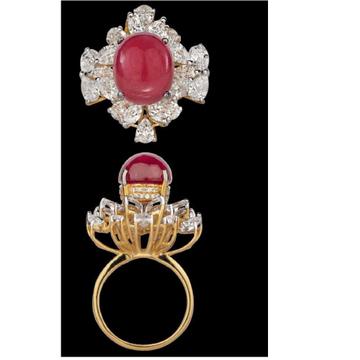 Diamonds and Ruby RingJSJ0048