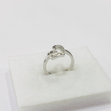 925 sterling silver heart design ring for women