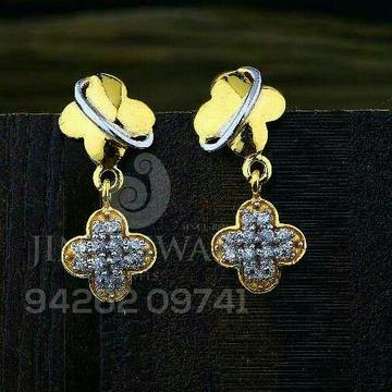 18kt Gold Cz Fancy Ladies Tops ATG -0742
