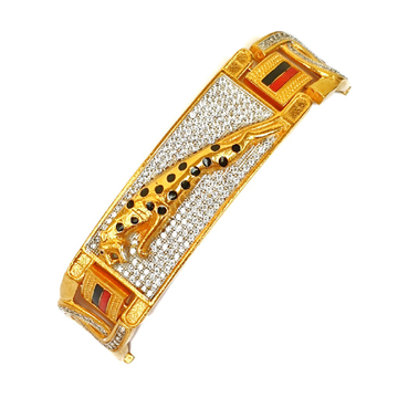 One gram gold forming jaguar diamond bracelet mga - bre0021