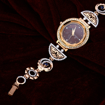 Rose Gold Ladies Cz Watch-RLW75