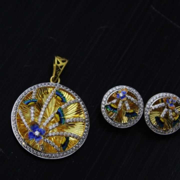 22 K Gold Fancy Pendant Set. nj-p01199