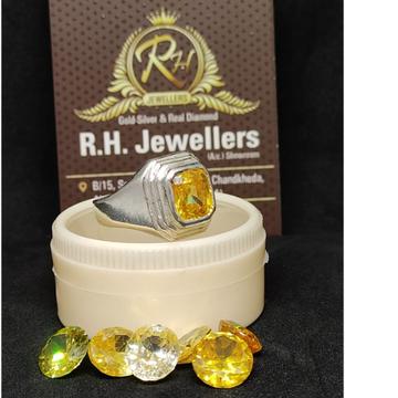 Silver guru stone ring rH-GR105