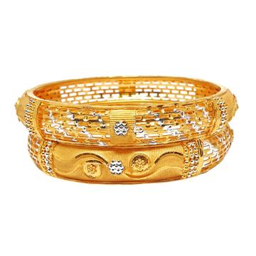 One gram gold forming patla bangles mga - bge0215