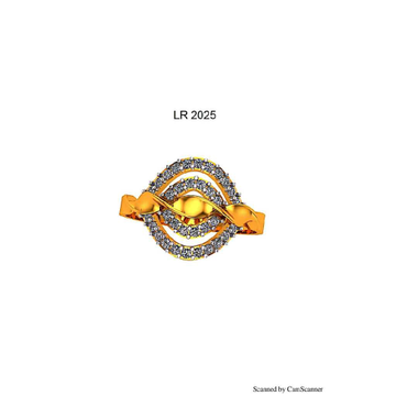 76 Gold Cz Ladies Ring 025