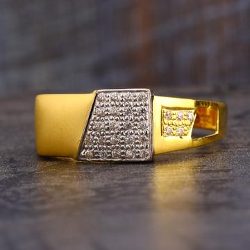 916 CZ  Gold Men's Classic Ring MR584