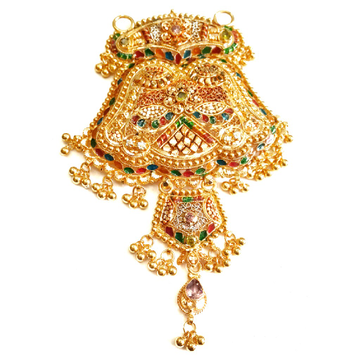 22k Gold Kalkatti Designer Mangalsutra Pendant MGA - MGP011