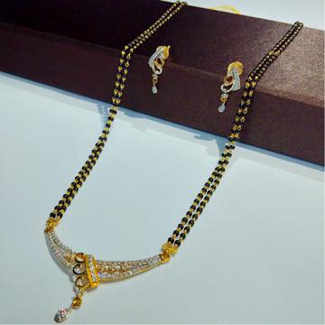 916 gold cz mangalsutra set