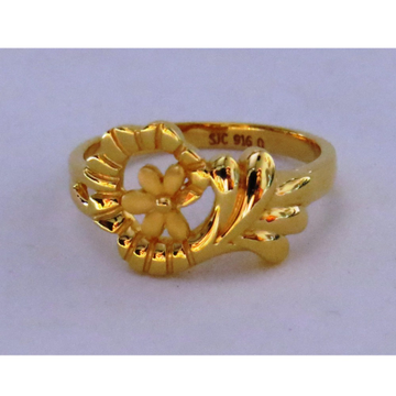 22kt gold plain casting ladies ring by