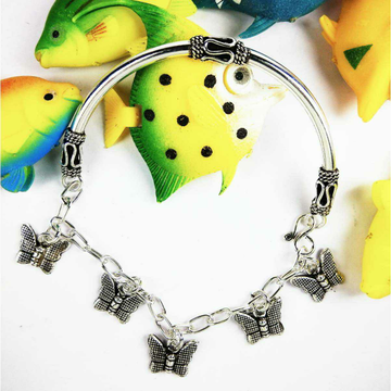 Latest Light Weight 925 Silver Ladies Bracelet With Butterflies