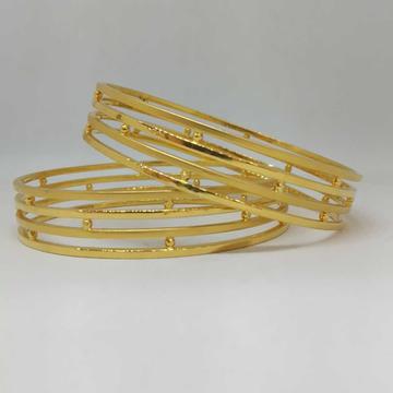 22 KT GOLD COPPER SIMPLE DESIGNED BAMGLE