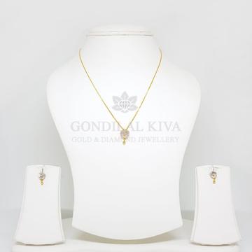 18kt gold pendant set gchp19 - gft392