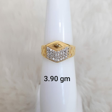 916 Fancy light weight daily wear Cz gents ring by
