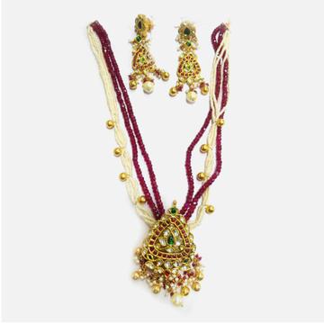 916 Gold Antique Long Necklace Set RHJ-5004