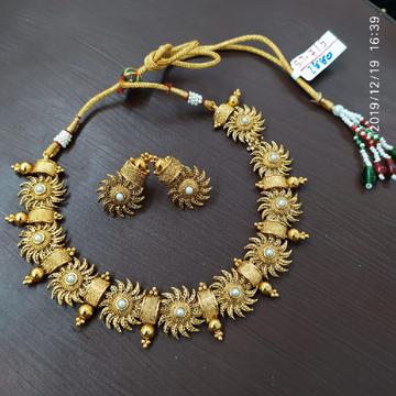 beautiful golden necklace#796