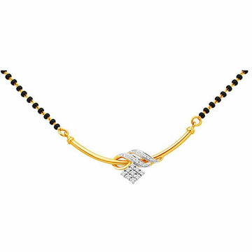 18K Gold Real Diamond Mangalsutra MGA - RMS009