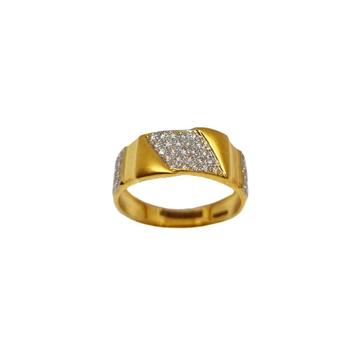 22K Gold Matte finish Designer Ring MGA - GRG0251