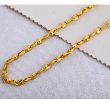 916 Gold Men's Fancy Choco Chain MCH384