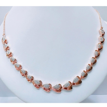 18K Rose Gold CZ Heart Shape Necklace MJ-N007 by