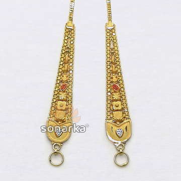 Gold Earchain  SK - K017 by
