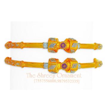 22KT Gold Modhiya Copper Kadali Bangle - 0004