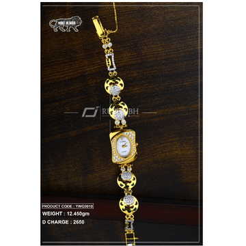 18 carat gold ladies gold watch ywg0010 by