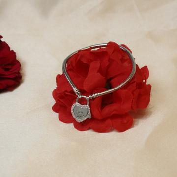 92.5 Sterling Love Silver Brecelet For Women Girls