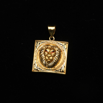 916 Gold Lion Design Pendant ML-P003