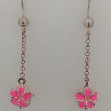 sterling silver flower design earrings by Vinayak Gold