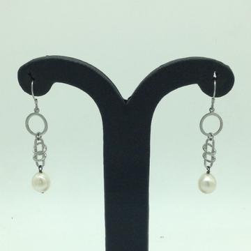 PearlSilverEar HangingsJER0128