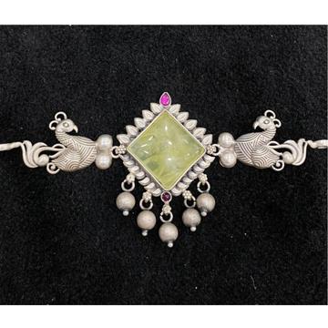 92.5% Pure Silver Compact Temple Choker PO-216-64 by Puran Ornaments