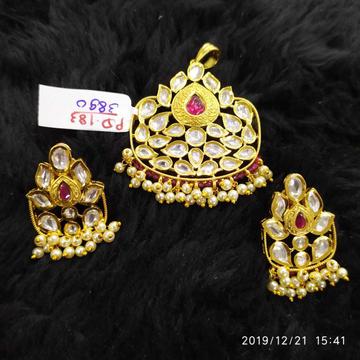 Beautiful Kundan Pendant Set#933