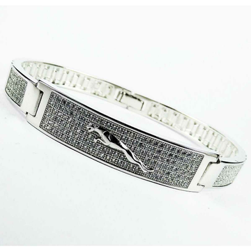 Fancy 925 Silver Micro Jaguar Gents Bracelet