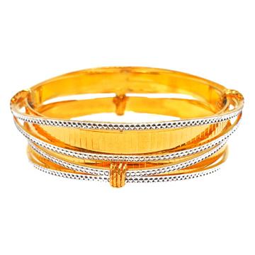 1 gram gold forming fancy 2 piece bangles mga - bg...