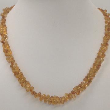 Natural golden citrine faceted drops mala