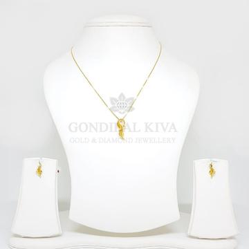 18kt gold pendant set gchp20 - gft393