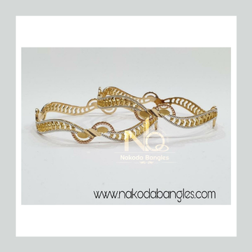 916 Gold CNC Bangles NB - 910
