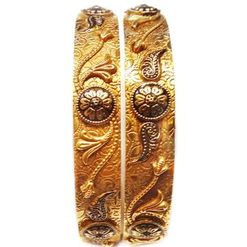 22k Gold Antique Designer Kada Bangles MGA - GP036