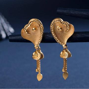 22k Gold plain earrings by