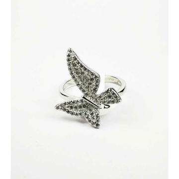 Descent Designer 925 Silver Ladies Ring With Beautiful
