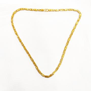 916 HM GOLD FANCY PLAIN GENTS CHAIN by Shreeji Silver Palace