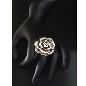 925 Antique Rose Silver Ring LJS 002