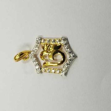 18kt/750 Gold OM Shape Pendant