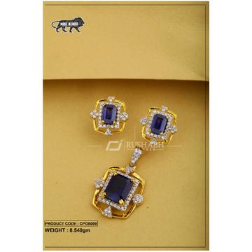 22 carat 916 gold ladies colour stone pendent set cpg0009