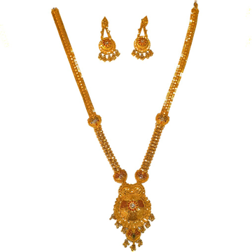 1 gram gold forming necklace set mga - gfn0030