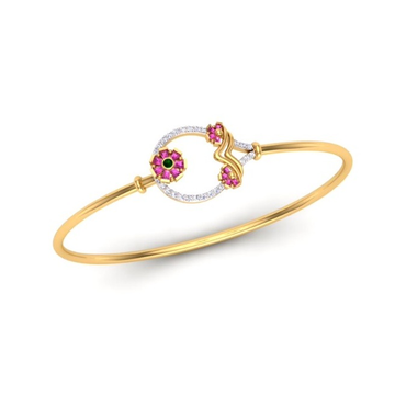 916 Gold CZ Fancy Bracelet For Women SO-B001 by S. O. Gold Private Limited
